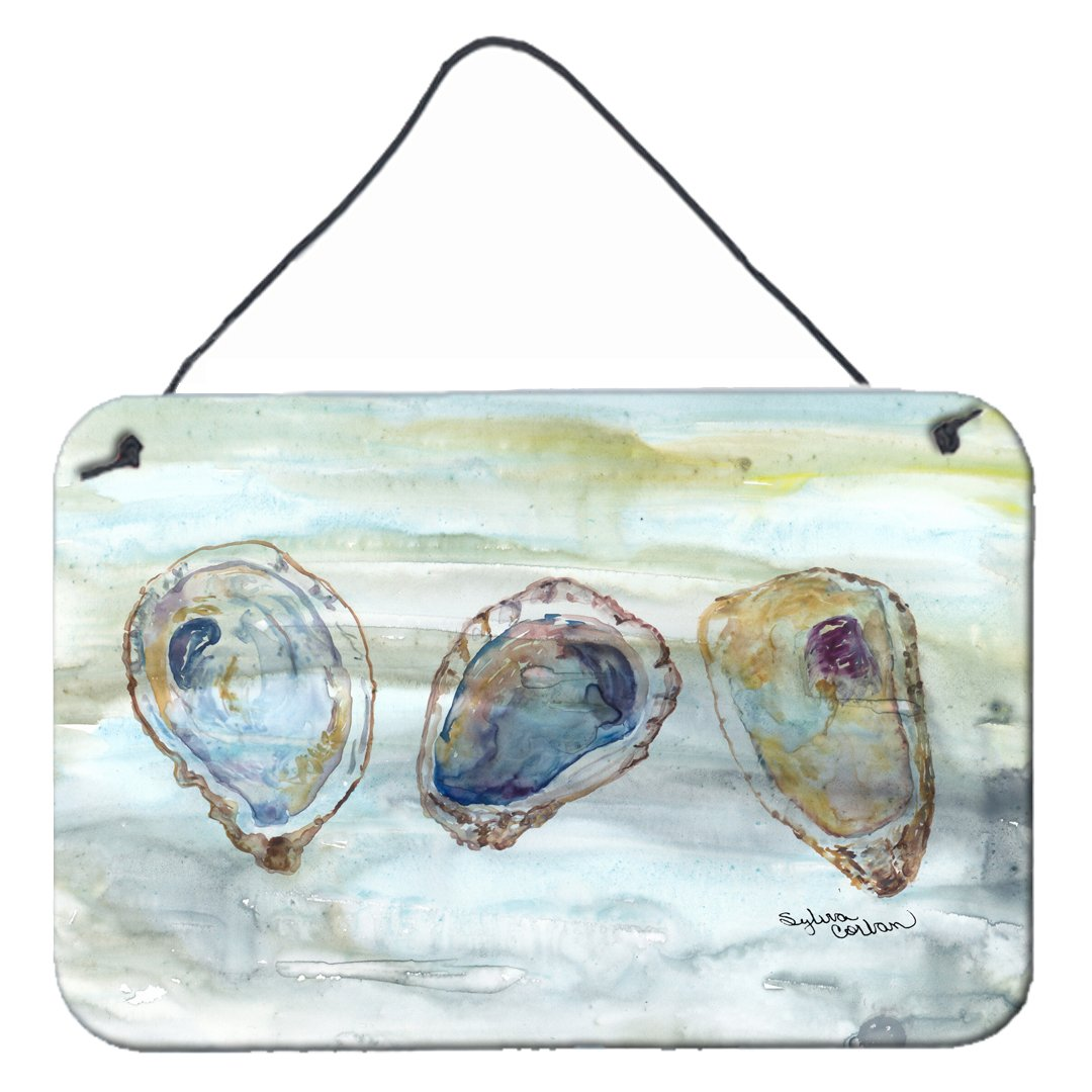 Oysters Watercolor Wall or Door Hanging Prints SC2001DS812 by Caroline's Treasures