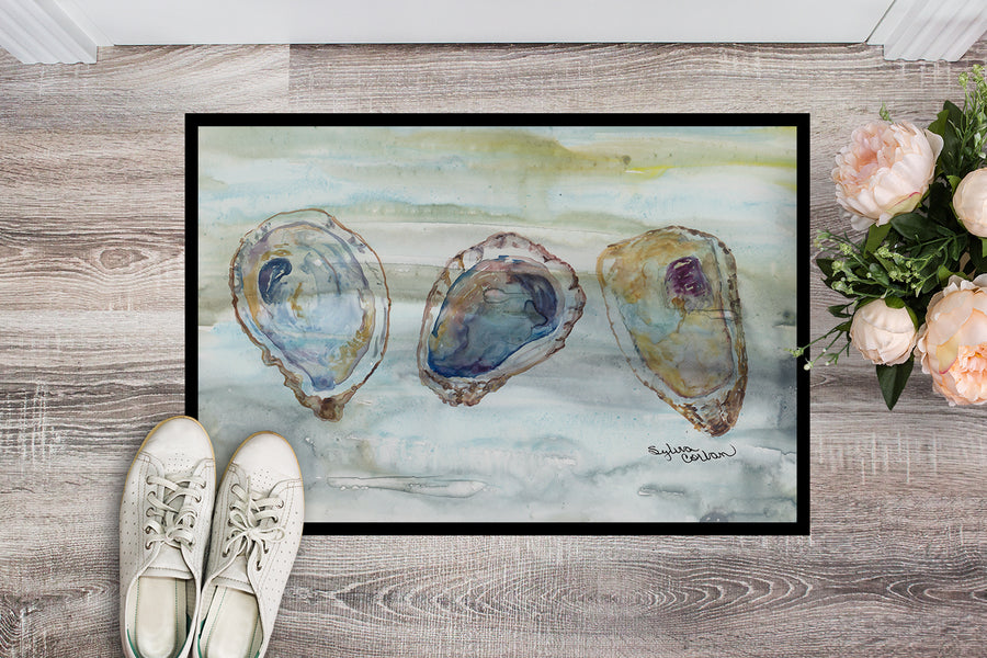 Buy this Oysters Watercolor Indoor or Outdoor Mat 18x27 SC2001MAT