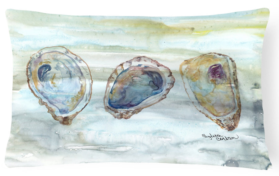 Buy this Oysters Watercolor Canvas Fabric Decorative Pillow SC2001PW1216