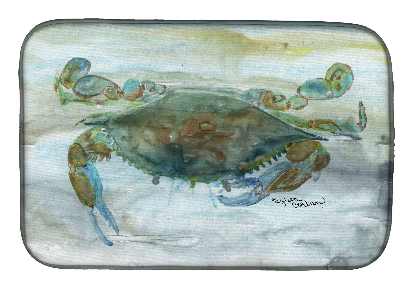 Crab a leg up Watercolor Dish Drying Mat SC2002DDM by Caroline's Treasures