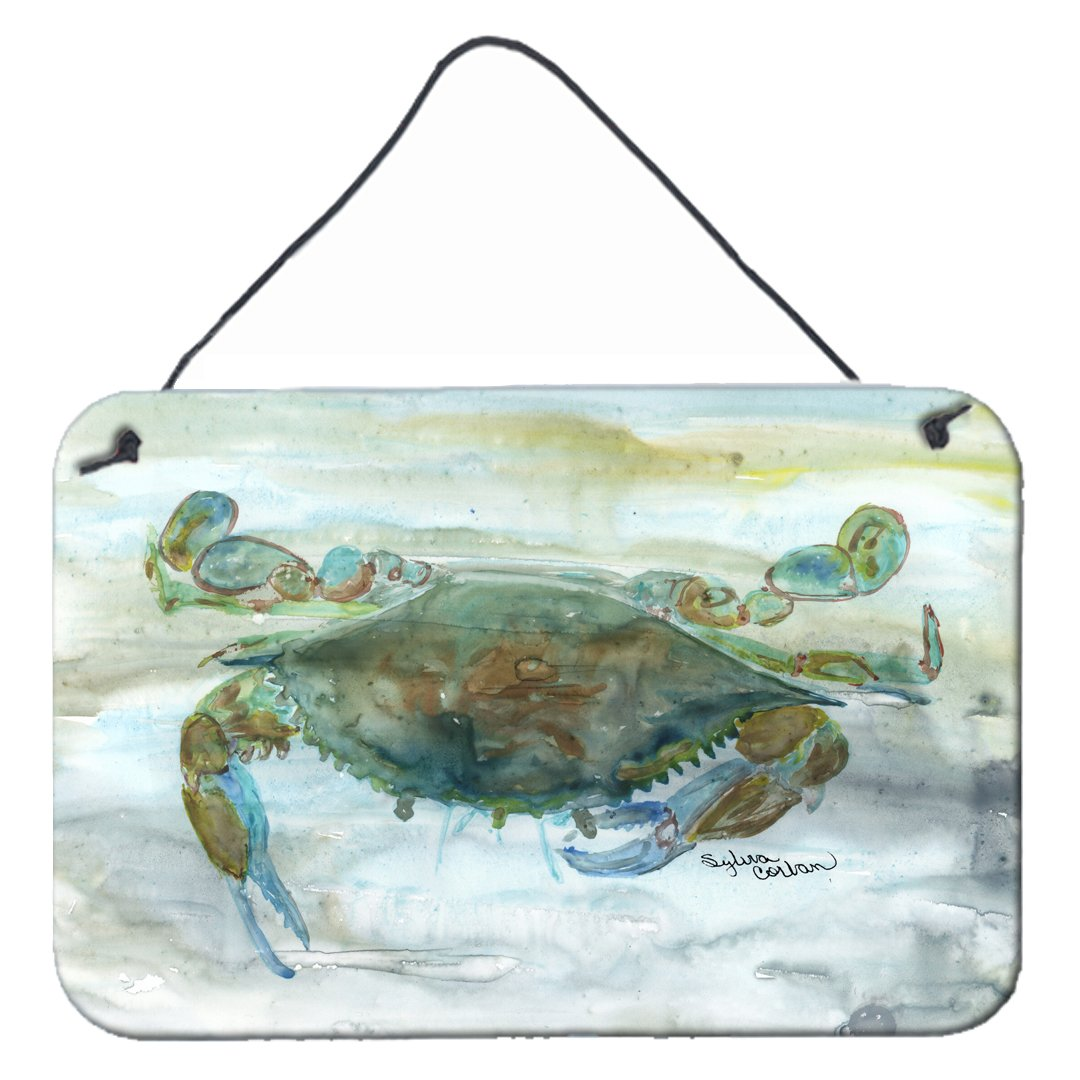 Crab a leg up Watercolor Wall or Door Hanging Prints SC2002DS812 by Caroline's Treasures