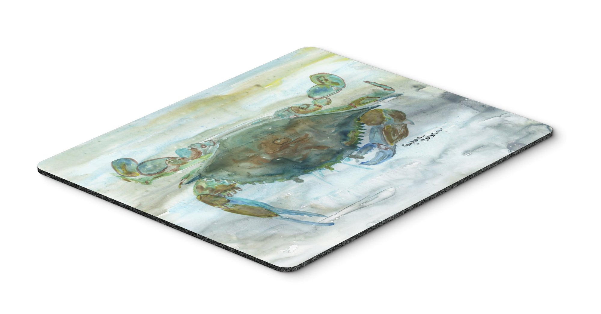Buy this Crab a leg up Watercolor Mouse Pad, Hot Pad or Trivet SC2002MP