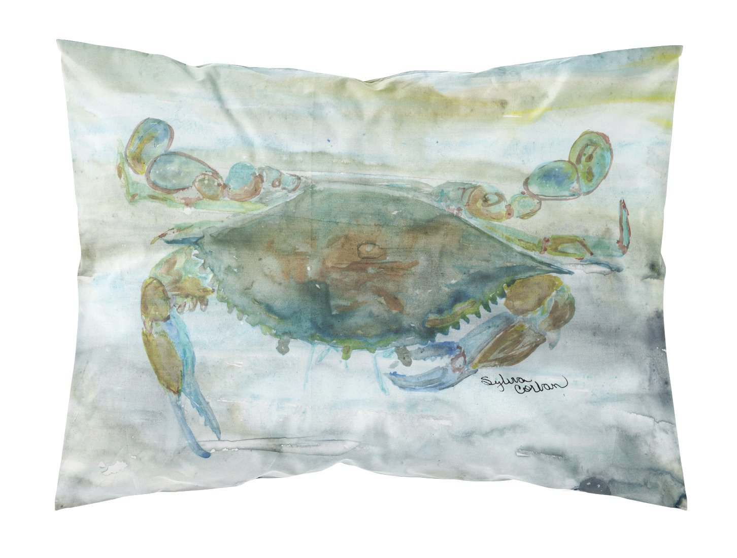 Buy this Crab a leg up Watercolor Fabric Standard Pillowcase SC2002PILLOWCASE