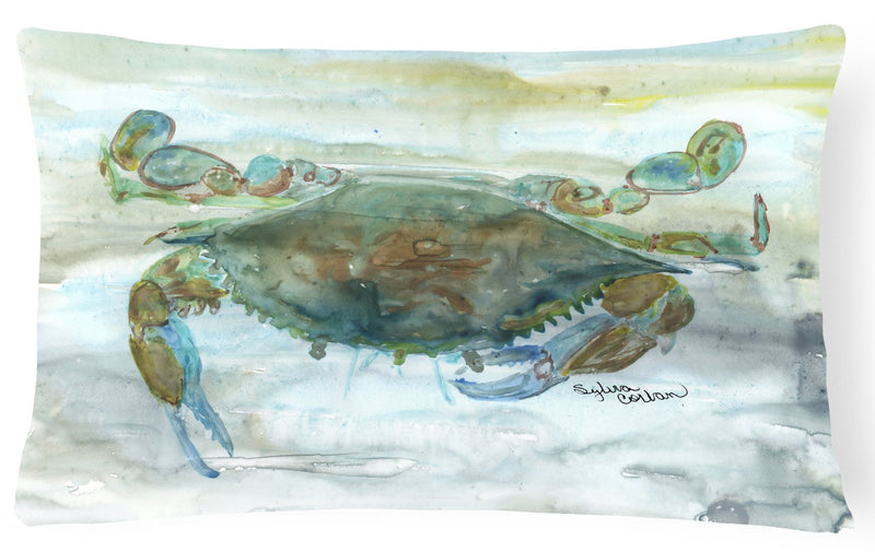 Buy this Crab a leg up Watercolor Canvas Fabric Decorative Pillow SC2002PW1216