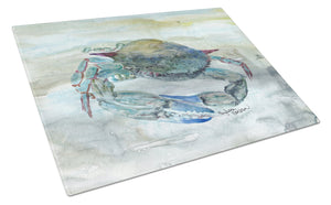 Buy this Blue Crab Watercolor Glass Cutting Board Large SC2003LCB