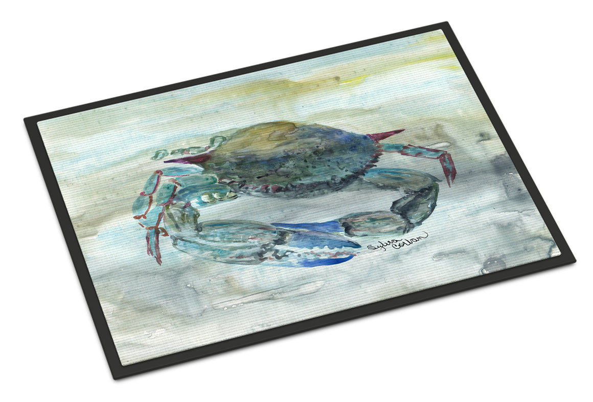 Buy this Blue Crab Watercolor Indoor or Outdoor Mat 18x27 SC2003MAT