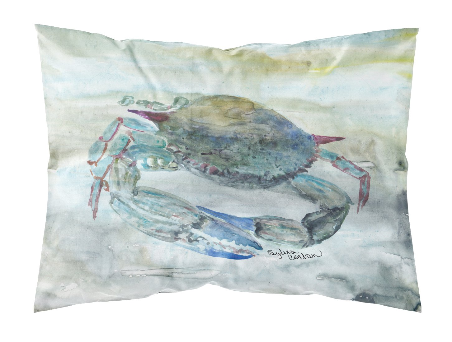 Buy this Blue Crab Watercolor Fabric Standard Pillowcase SC2003PILLOWCASE