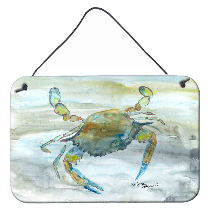 Buy this Blue Crab #2 Watercolor Wall or Door Hanging Prints SC2004DS812