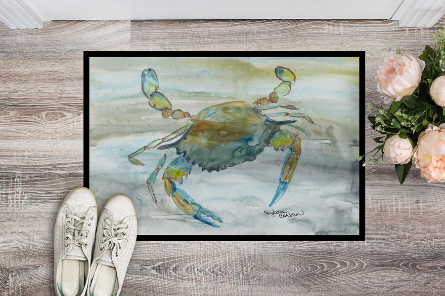 Buy this Blue Crab #2 Watercolor Indoor or Outdoor Mat 18x27 SC2004MAT