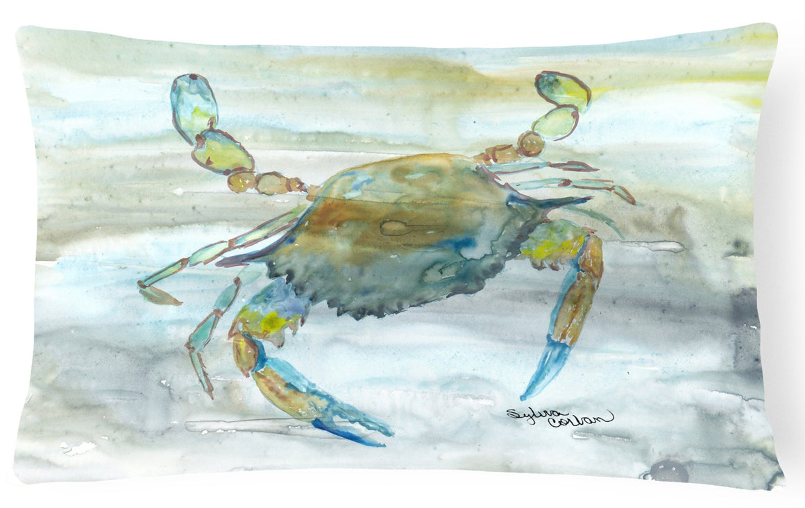 Buy this Blue Crab #2 Watercolor Canvas Fabric Decorative Pillow SC2004PW1216