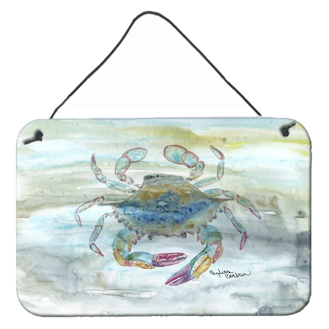 Female Blue Crab Watercolor Wall or Door Hanging Prints SC2005DS812 by Caroline's Treasures