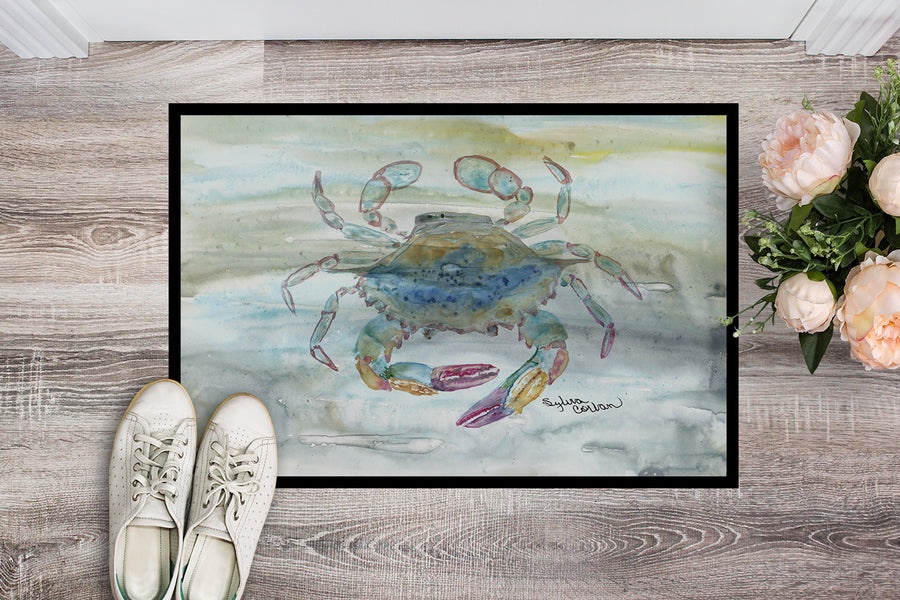 Buy this Female Blue Crab Watercolor Indoor or Outdoor Mat 18x27 SC2005MAT