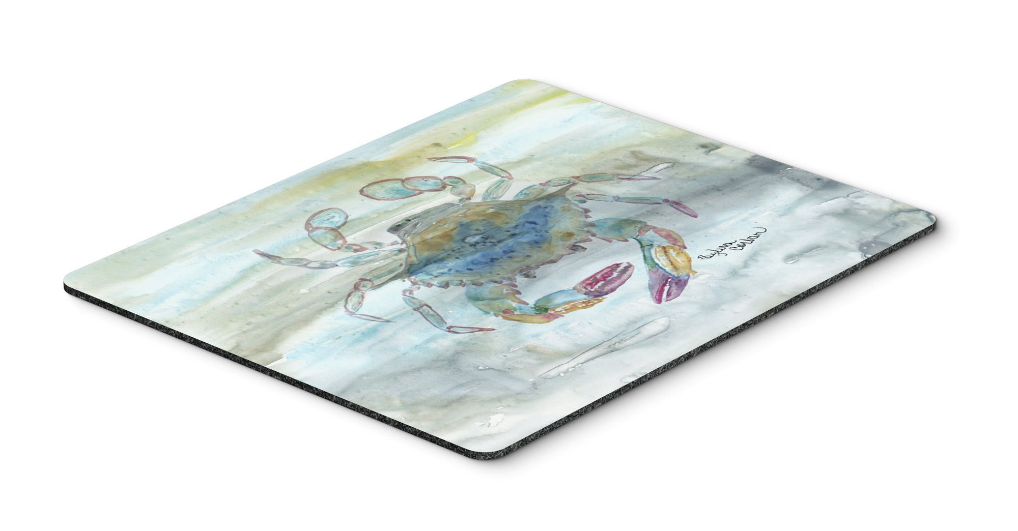 Buy this Female Blue Crab Watercolor Mouse Pad, Hot Pad or Trivet SC2005MP