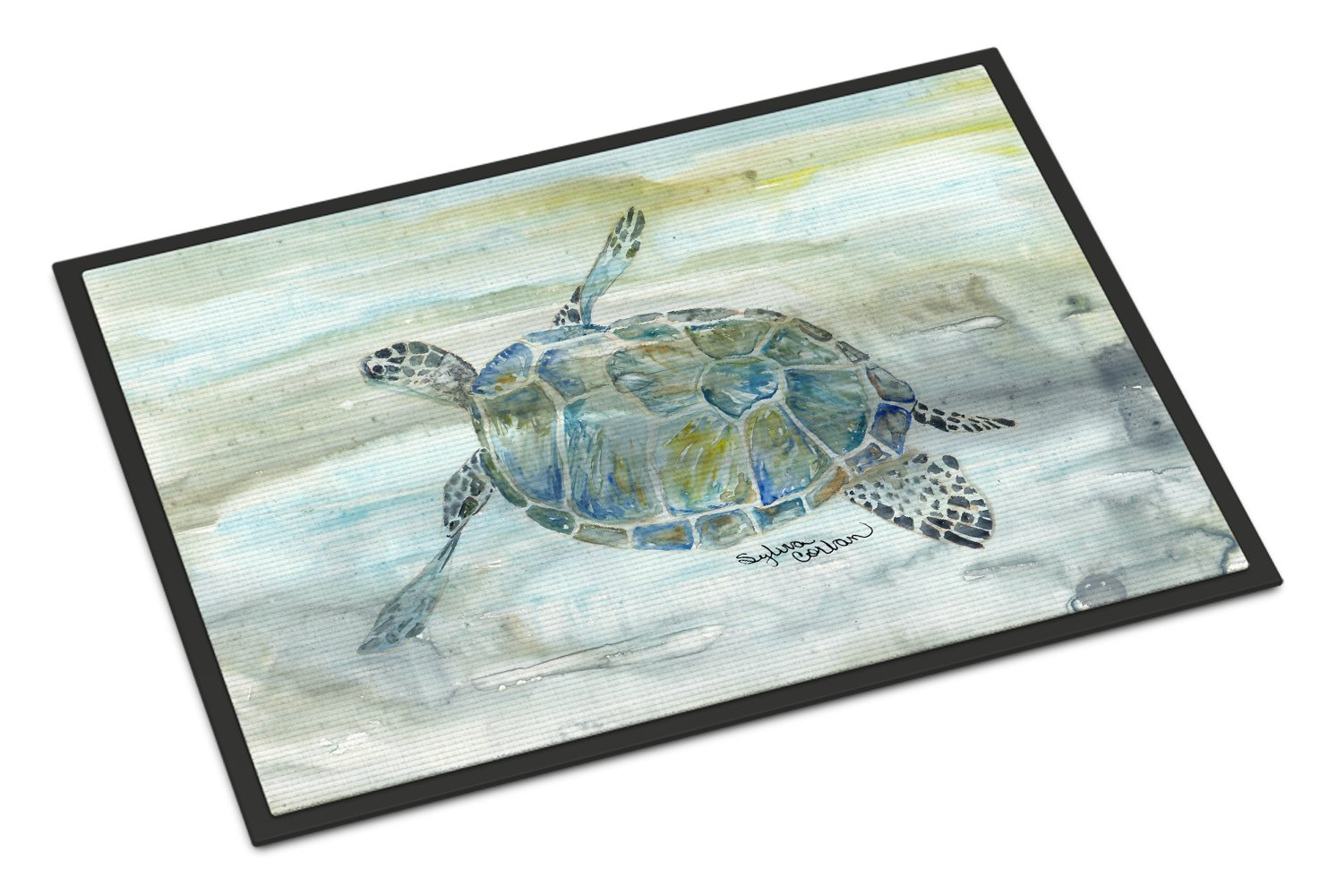 Buy this Sea Turtle Watercolor Indoor or Outdoor Mat 24x36 SC2006JMAT