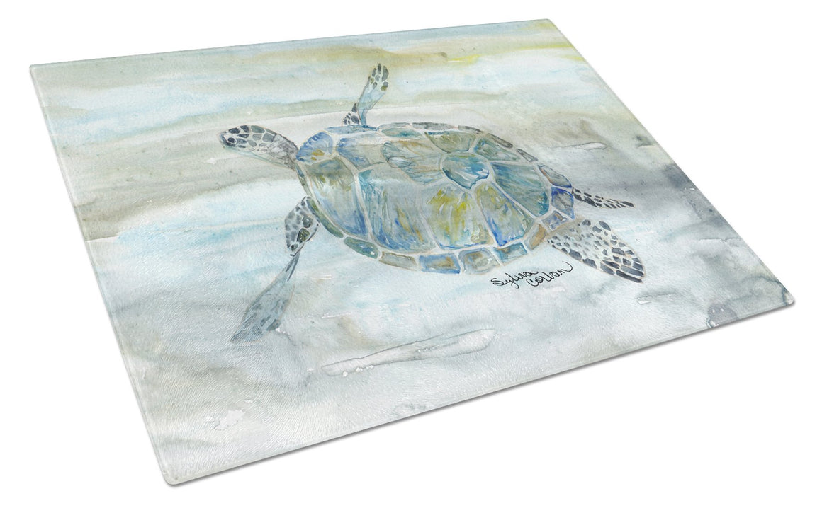 Buy this Sea Turtle Watercolor Glass Cutting Board Large SC2006LCB