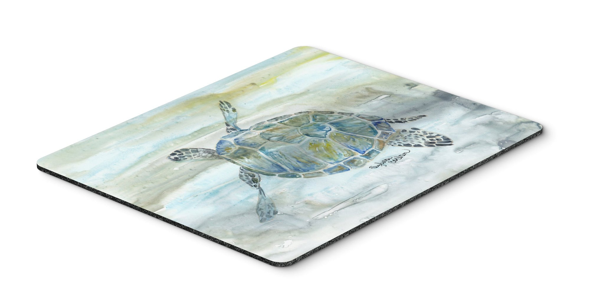 Buy this Sea Turtle Watercolor Mouse Pad, Hot Pad or Trivet SC2006MP