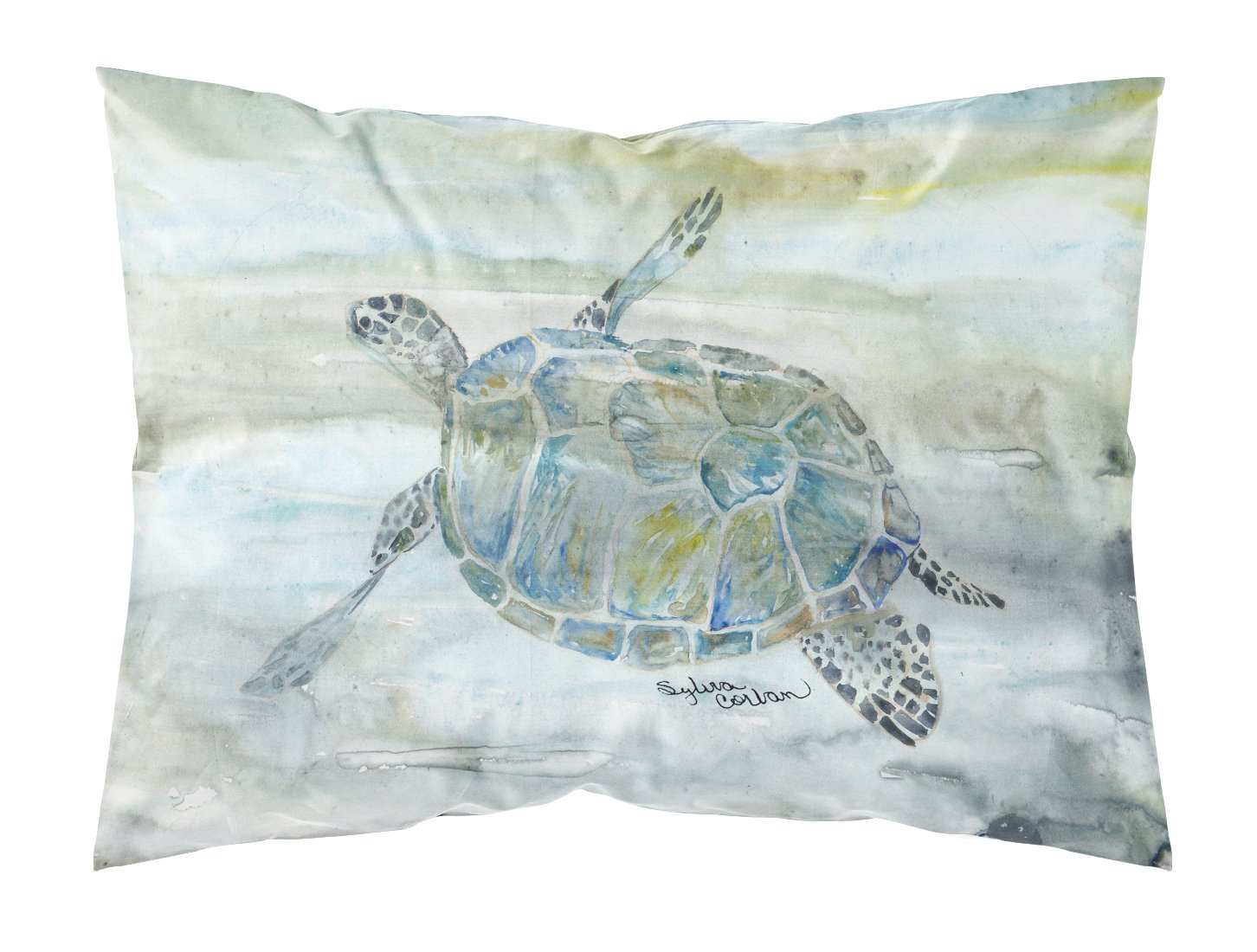Buy this Sea Turtle Watercolor Fabric Standard Pillowcase SC2006PILLOWCASE