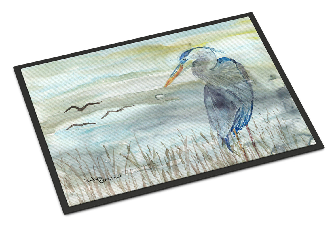 Buy this Blue Heron Watercolor Indoor or Outdoor Mat 18x27 SC2007MAT