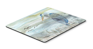Buy this Blue Heron Watercolor Mouse Pad, Hot Pad or Trivet SC2007MP