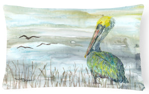 Buy this Pelican Watercolor Canvas Fabric Decorative Pillow SC2008PW1216