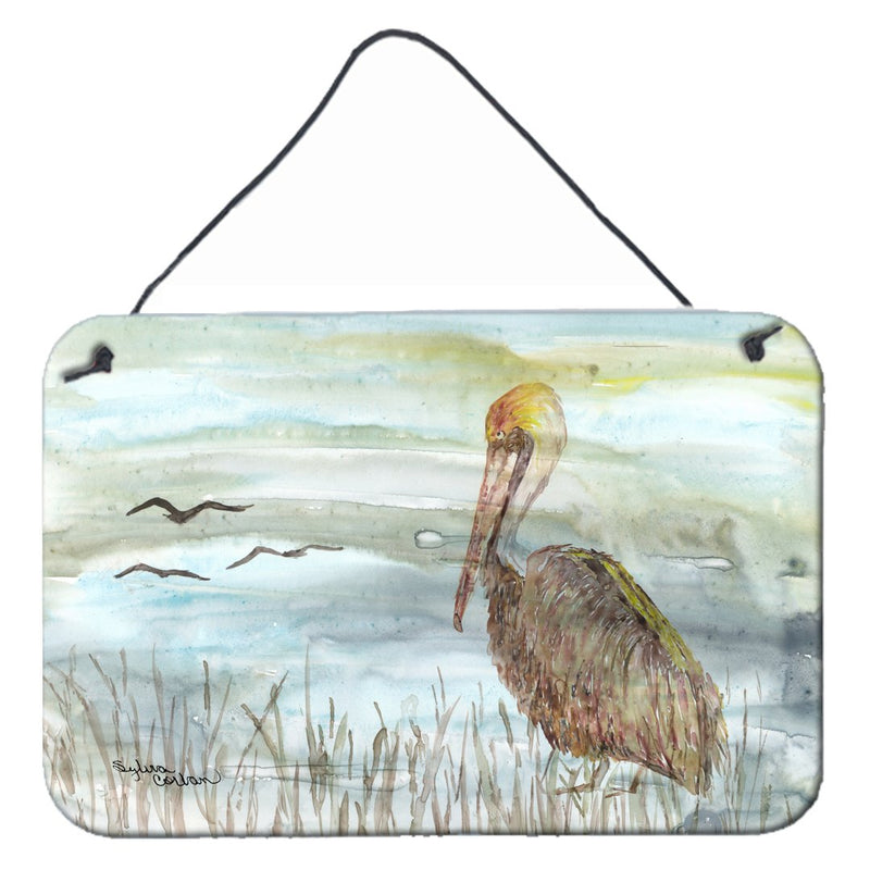Buy this Brown Pelican Watercolor Wall or Door Hanging Prints SC2009DS812