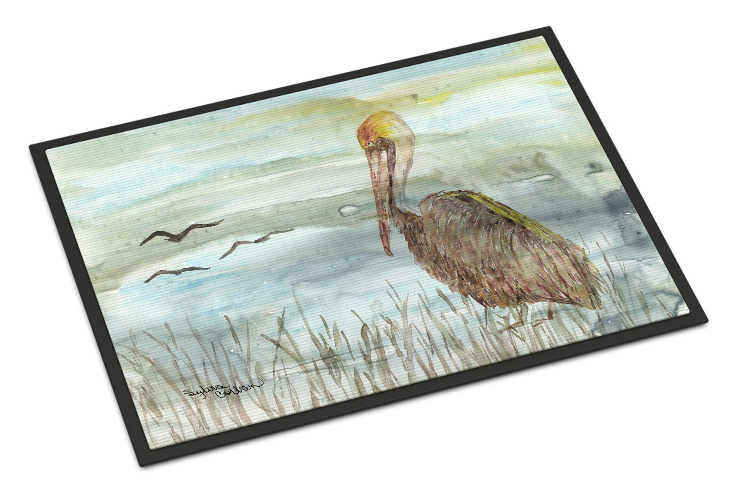 Buy this Brown Pelican Watercolor Indoor or Outdoor Mat 24x36 SC2009JMAT