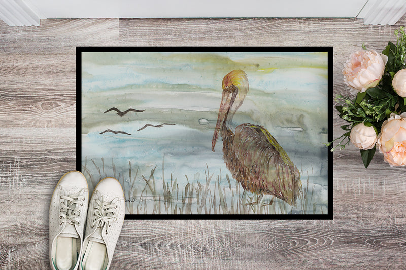 Buy this Brown Pelican Watercolor Indoor or Outdoor Mat 18x27 SC2009MAT