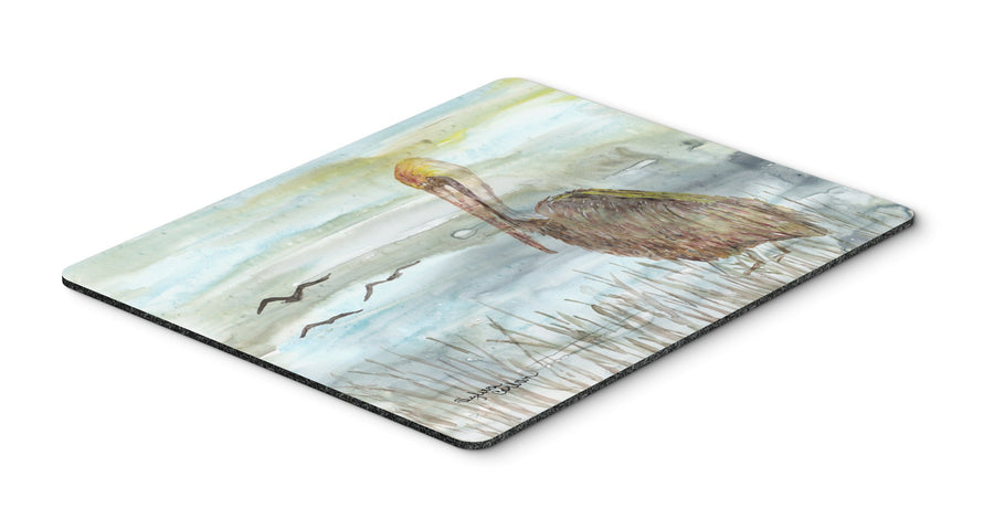 Buy this Brown Pelican Watercolor Mouse Pad, Hot Pad or Trivet SC2009MP