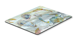Buy this Crab, Shrimp and Oyster Watercolor Mouse Pad, Hot Pad or Trivet SC2010MP