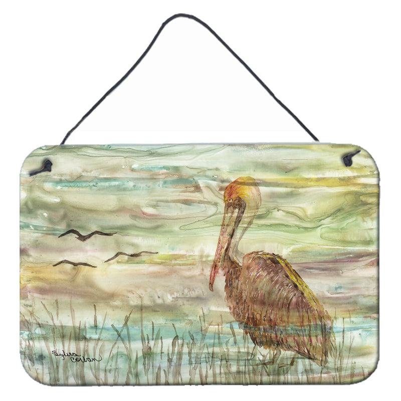 Buy this Brown Pelican Sunset Wall or Door Hanging Prints SC2011DS812