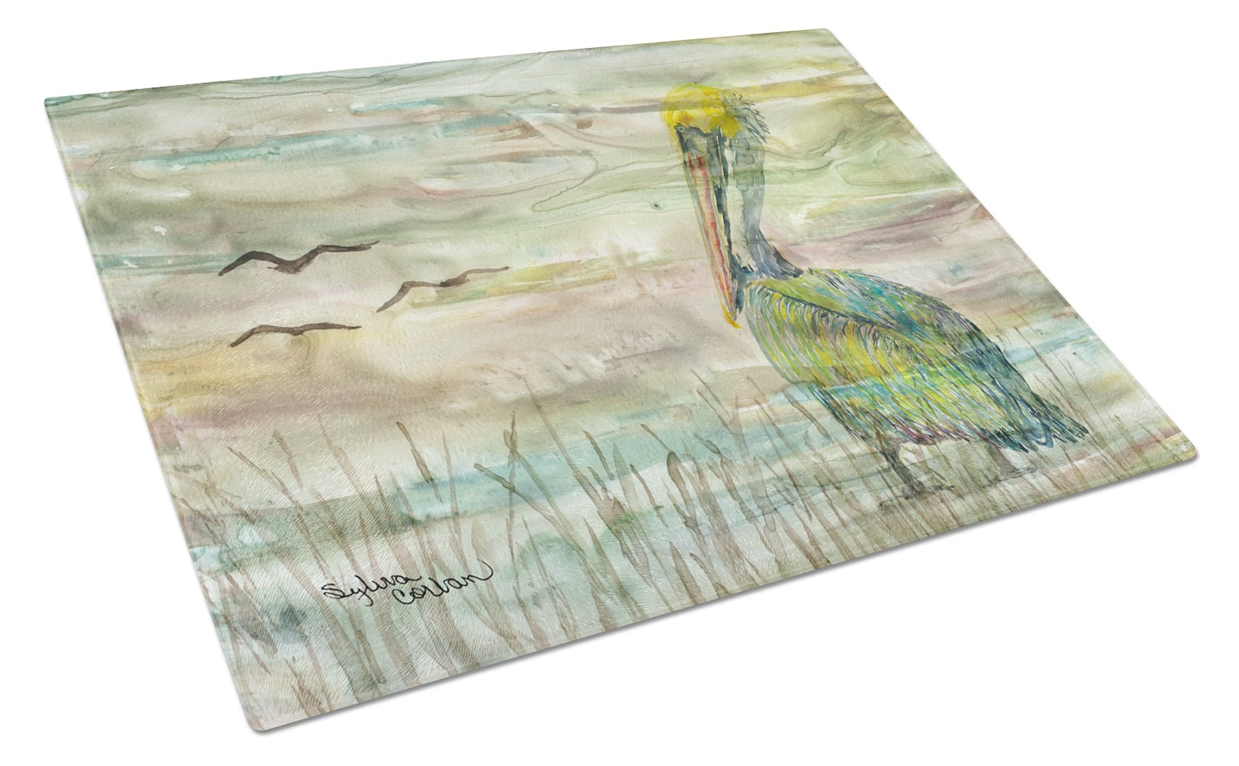 Buy this Pelican Sunset Glass Cutting Board Large SC2012LCB