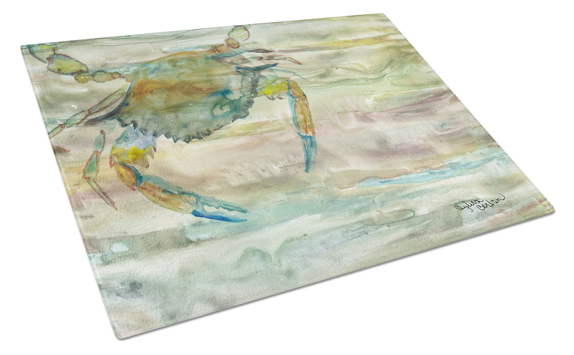 Buy this Blue Crab Sunset Glass Cutting Board Large SC2013LCB