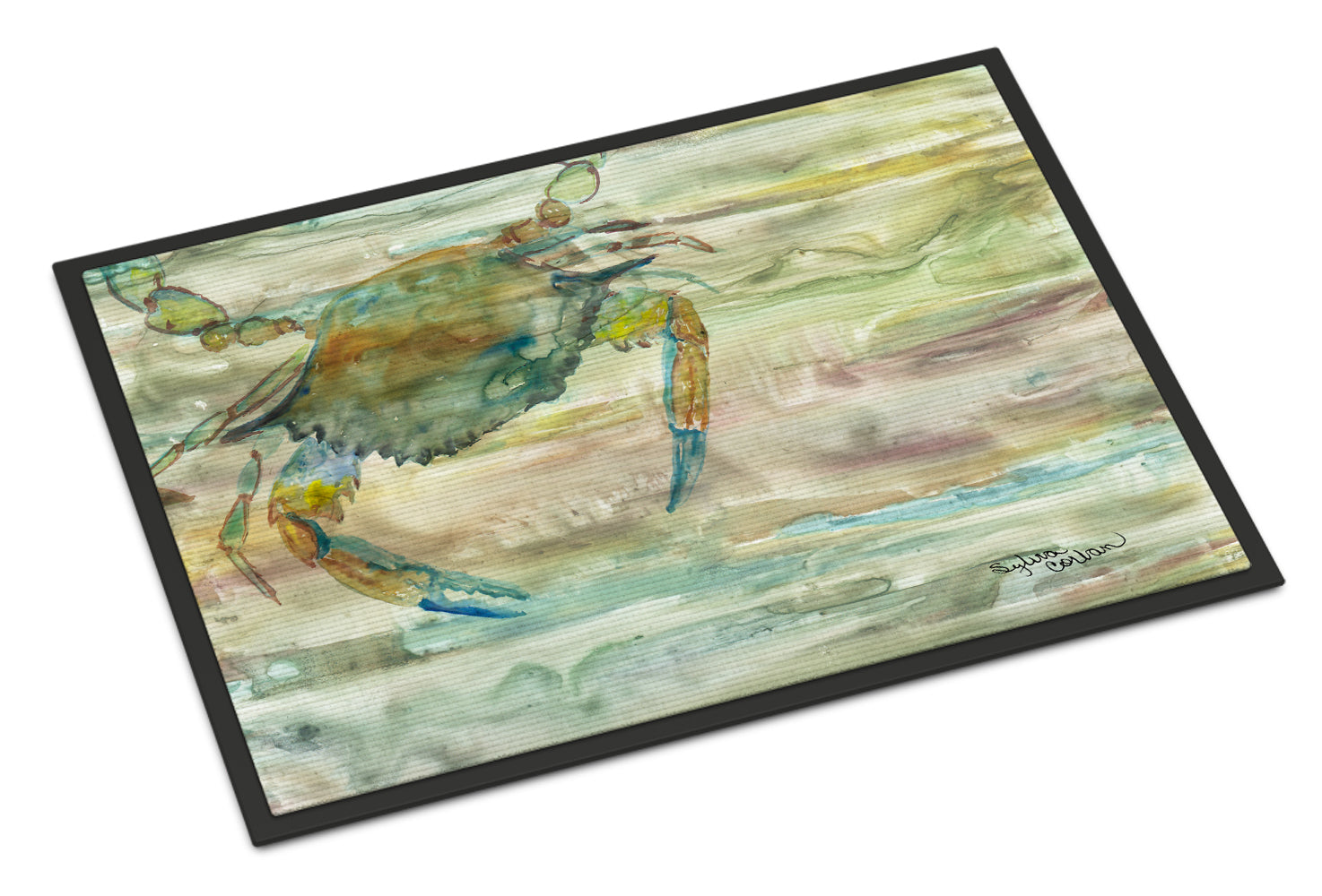 Blue Crab Sunset Indoor or Outdoor Mat 18x27 SC2013MAT by Caroline's Treasures