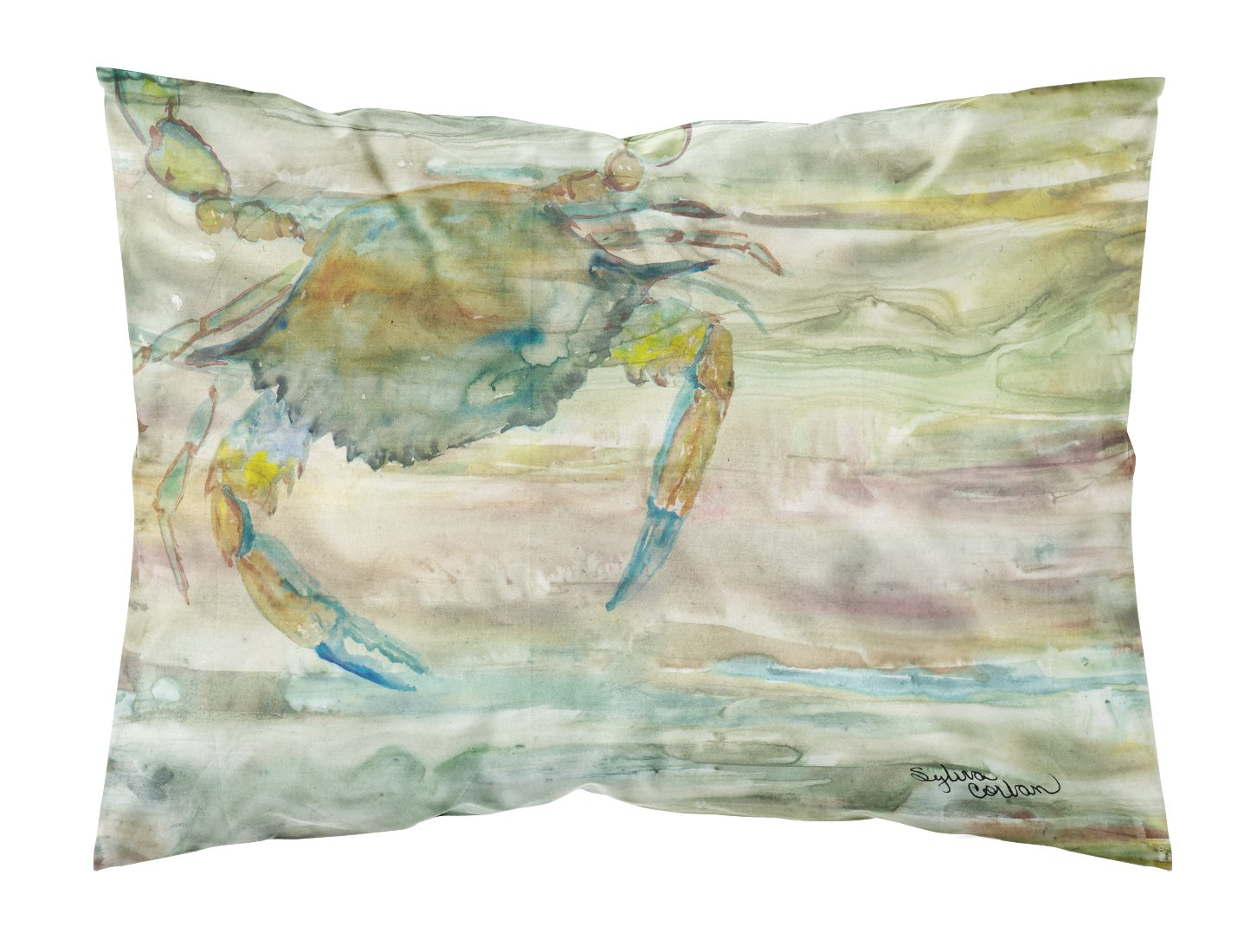 Buy this Blue Crab Sunset Fabric Standard Pillowcase SC2013PILLOWCASE