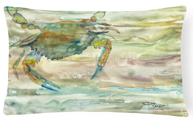 Blue Crab Sunset Canvas Fabric Decorative Pillow SC2013PW1216 by Caroline's Treasures
