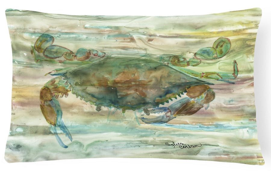 Buy this Crab a leg up Sunset Canvas Fabric Decorative Pillow SC2015PW1216