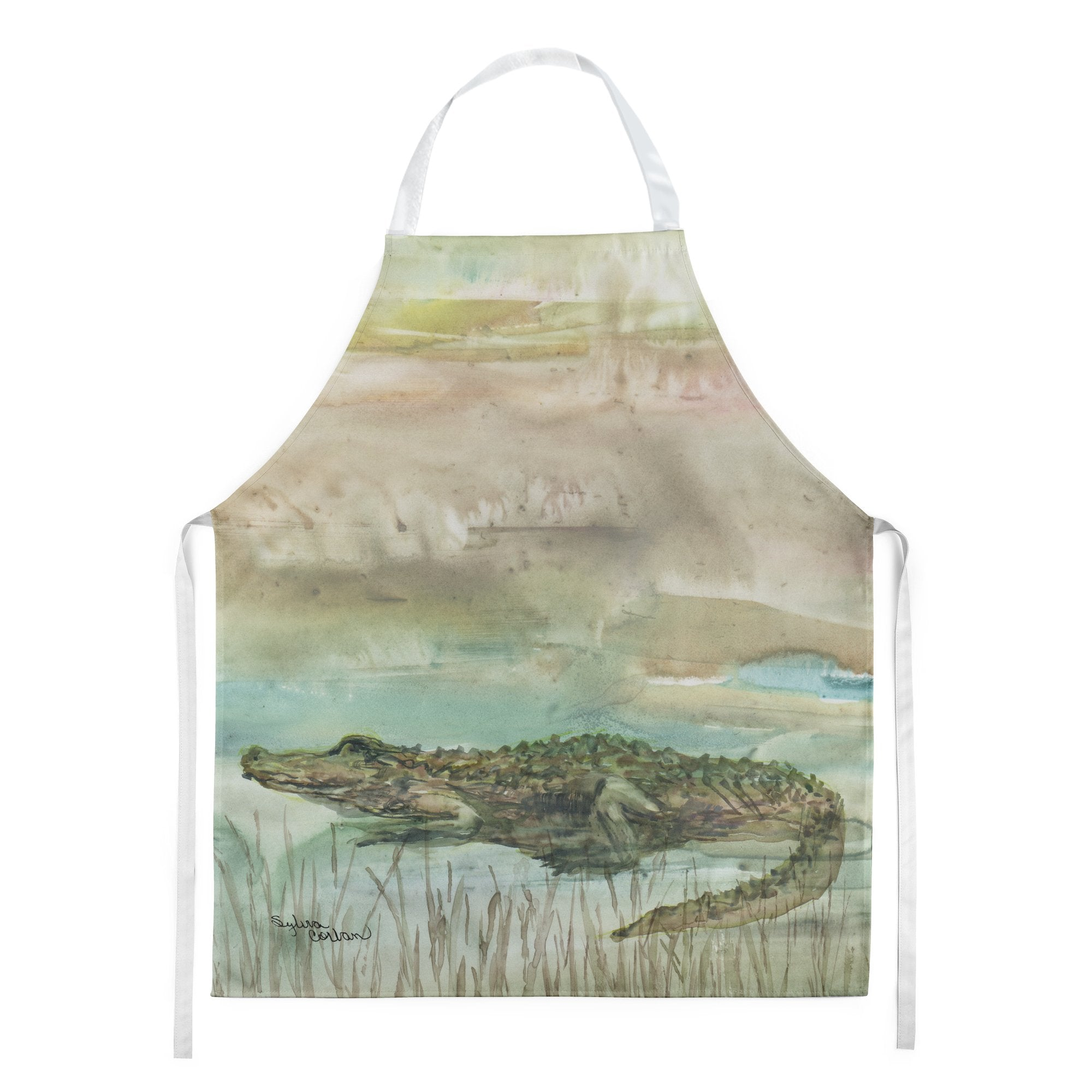 Alligator Sunset Apron SC2016APRON by Caroline's Treasures