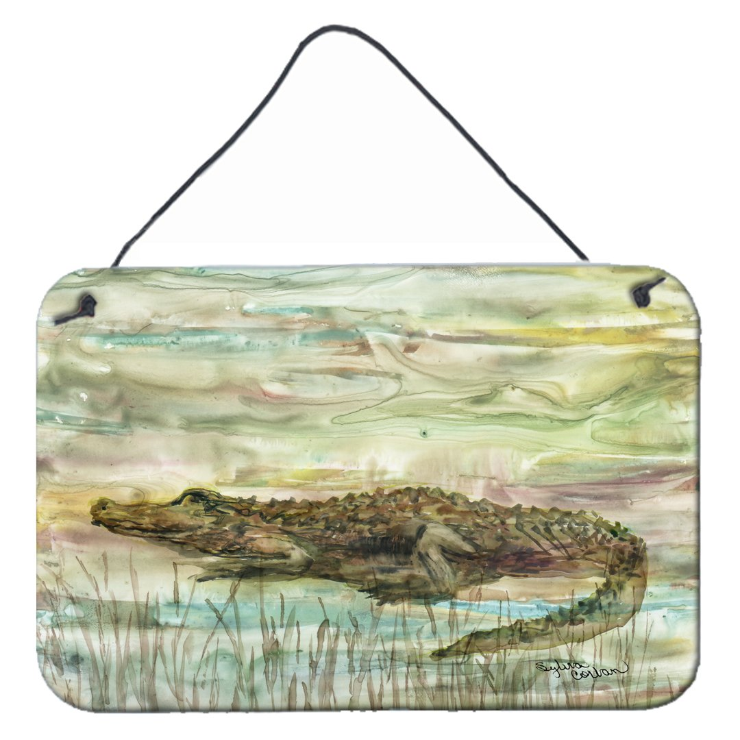 Alligator Sunset Wall or Door Hanging Prints SC2016DS812 by Caroline's Treasures