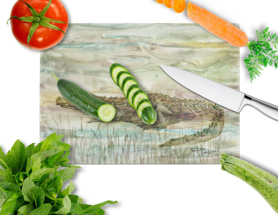 Buy this Alligator Sunset Glass Cutting Board Large SC2016LCB