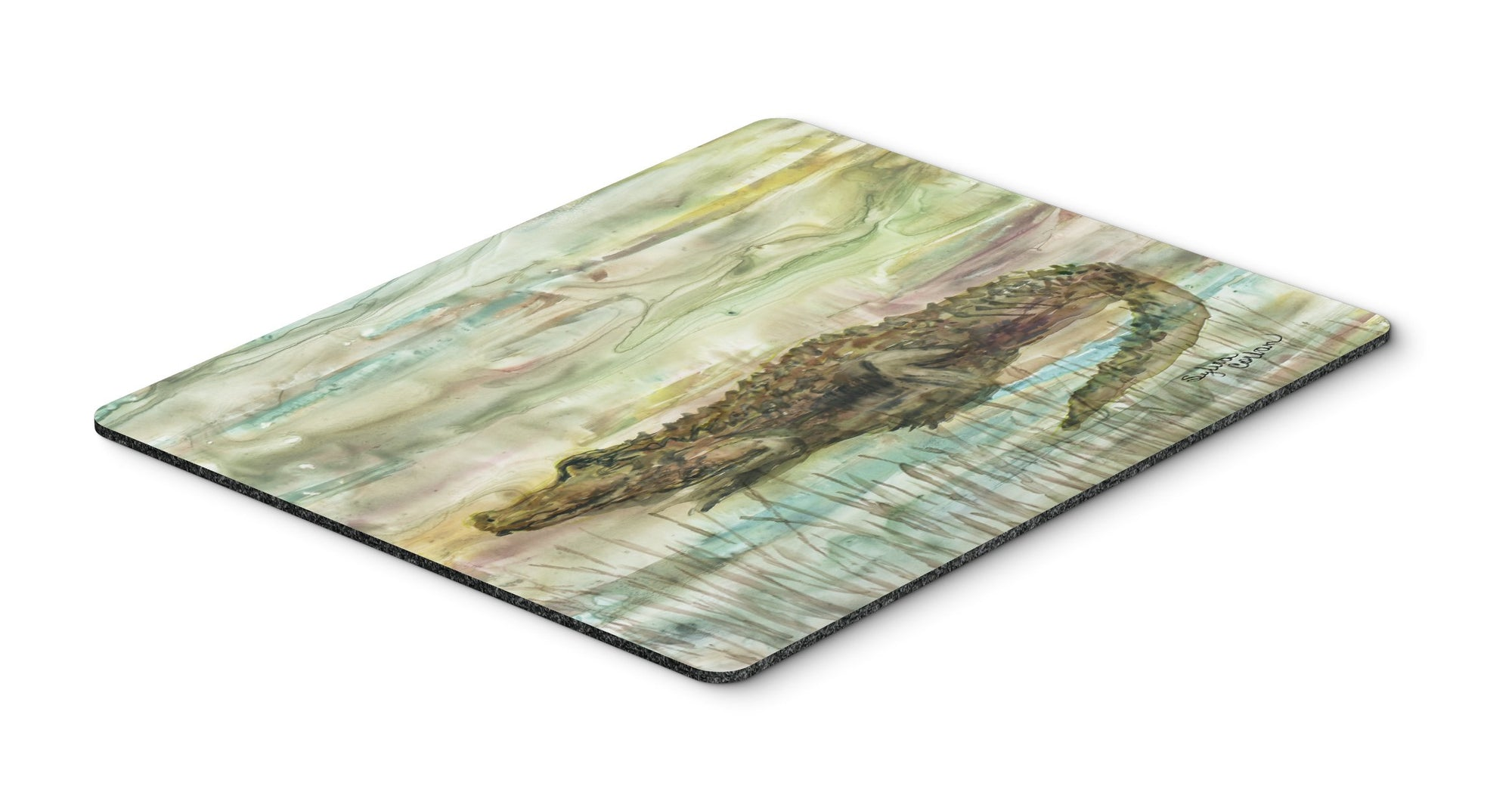 Alligator Sunset Mouse Pad, Hot Pad or Trivet SC2016MP by Caroline's Treasures