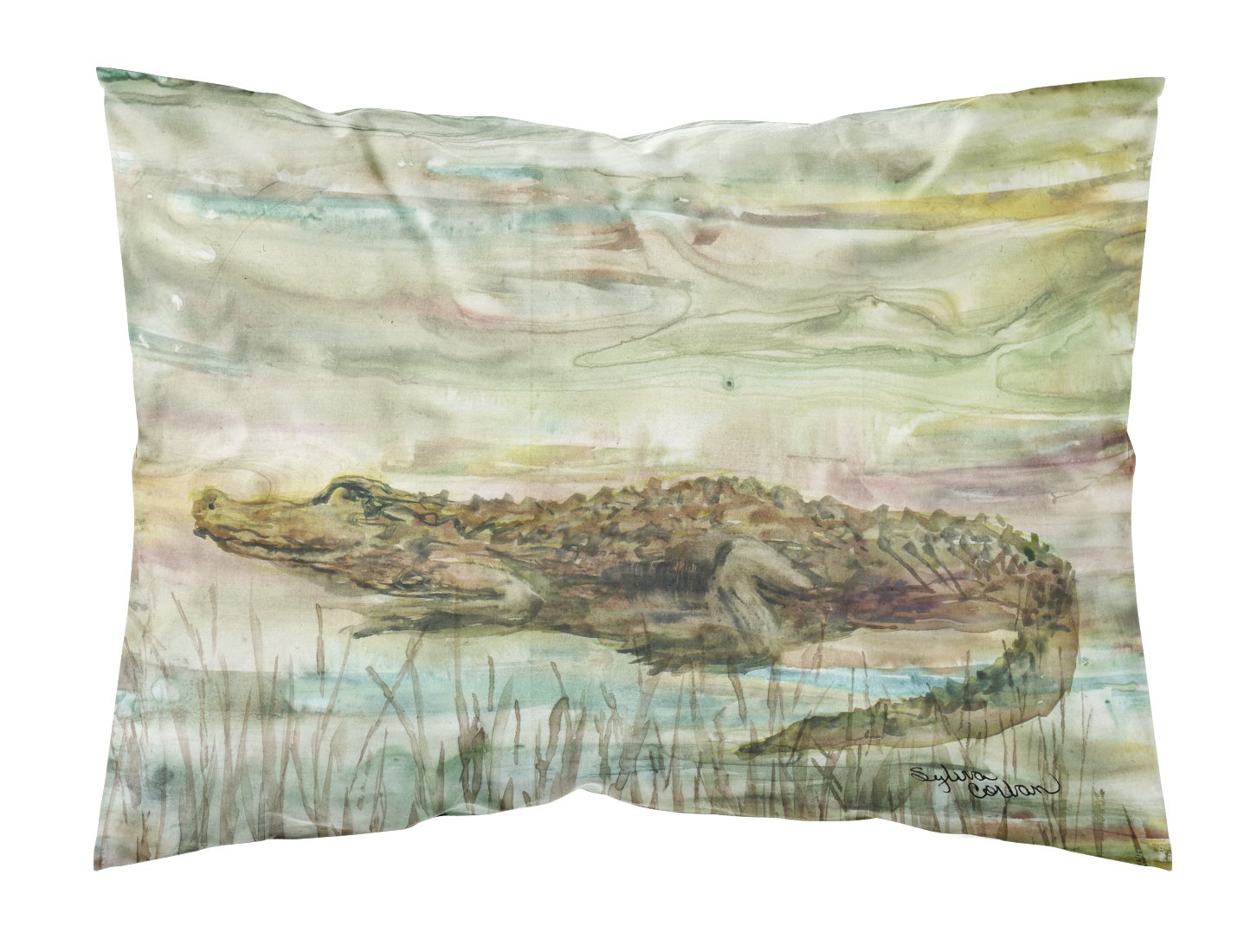 Alligator Sunset Fabric Standard Pillowcase SC2016PILLOWCASE by Caroline's Treasures