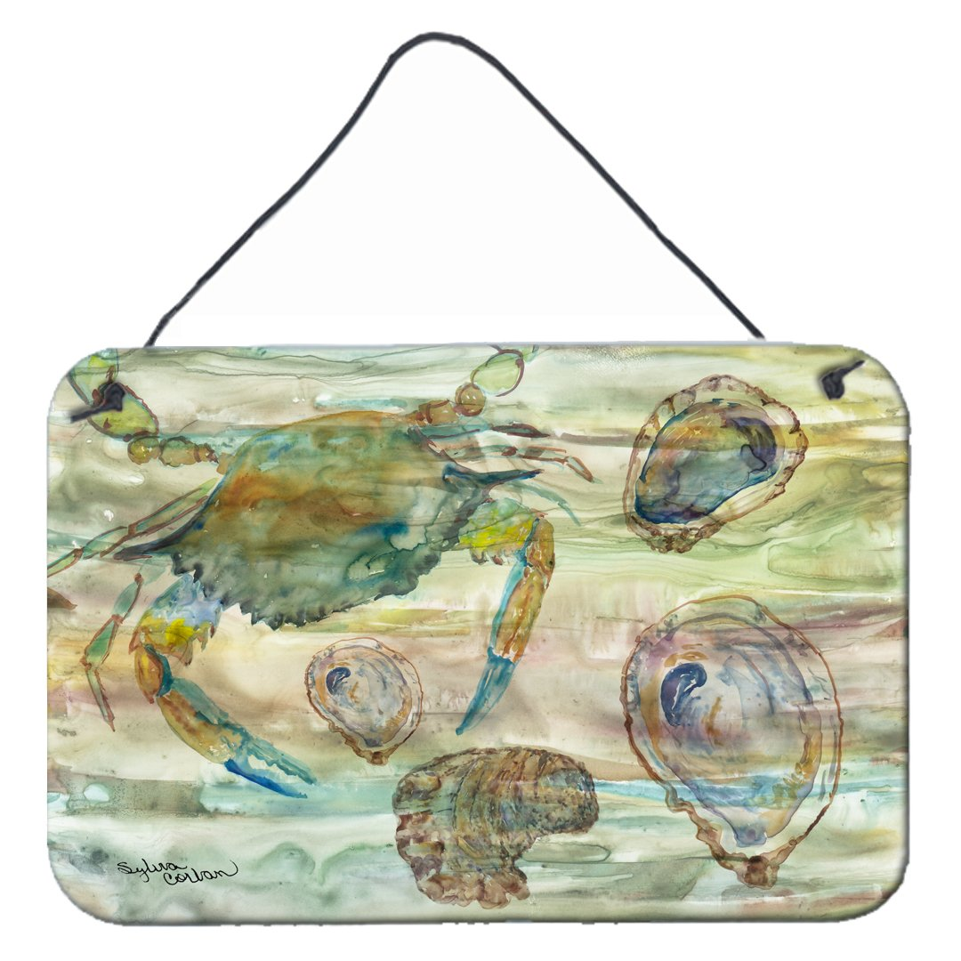 Crab, Shrimp and Oyster Sunset Wall or Door Hanging Prints SC2017DS812 by Caroline's Treasures