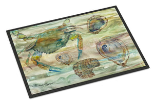 Buy this Crab, Shrimp and Oyster Sunset Indoor or Outdoor Mat 24x36 SC2017JMAT