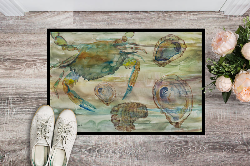 Buy this Crab, Shrimp and Oyster Sunset Indoor or Outdoor Mat 18x27 SC2017MAT