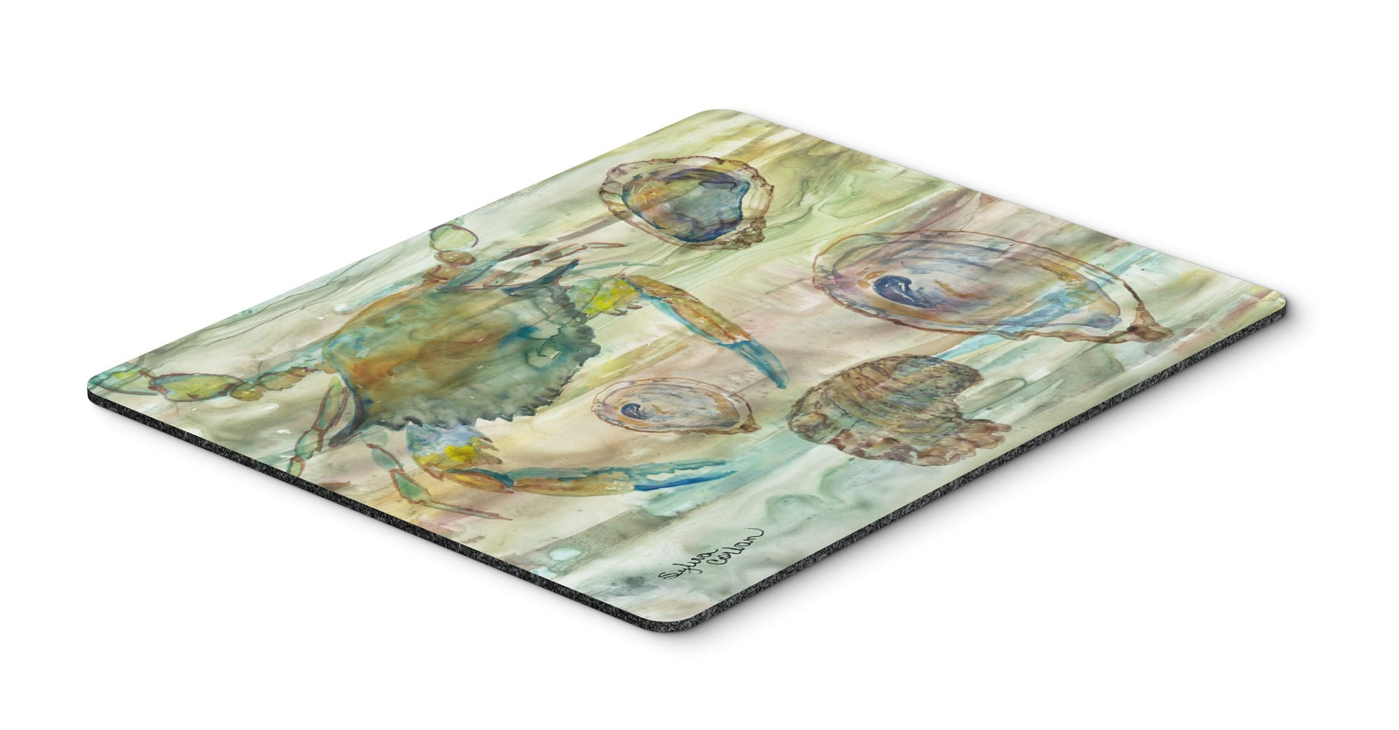 Crab, Shrimp and Oyster Sunset Mouse Pad, Hot Pad or Trivet SC2017MP by Caroline's Treasures
