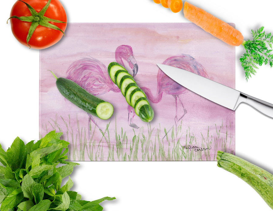 Buy this Flamingos Glass Cutting Board Large SC2018LCB