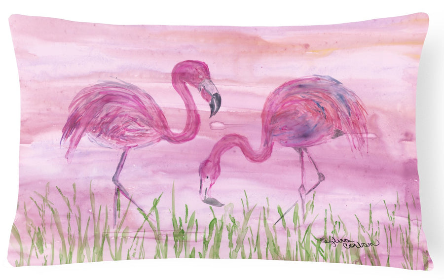 Buy this Flamingos Canvas Fabric Decorative Pillow SC2018PW1216