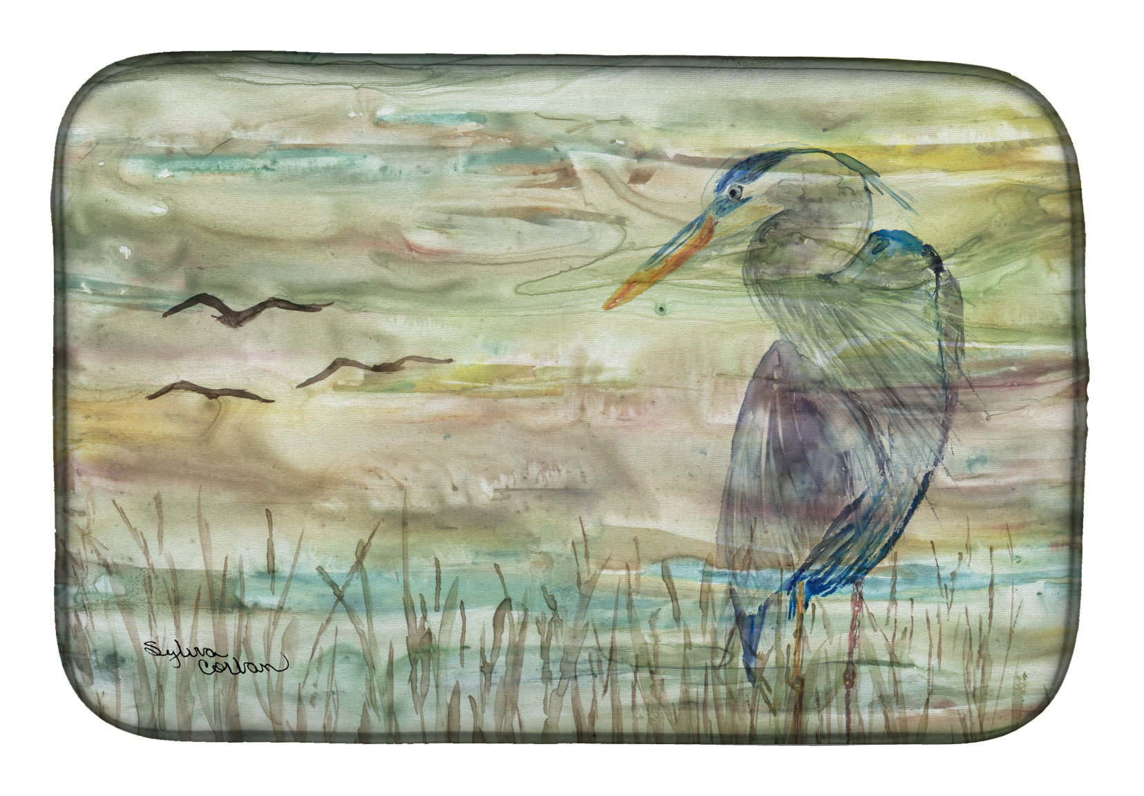 Buy this Blue Heron Sunset Dish Drying Mat SC2019DDM