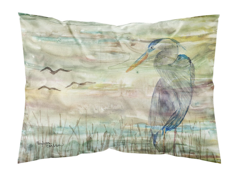 Buy this Blue Heron Sunset Fabric Standard Pillowcase SC2019PILLOWCASE
