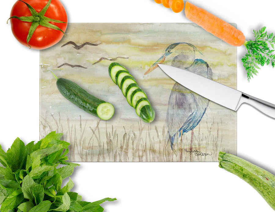 Buy this Blue Heron Yellow Sky Glass Cutting Board Large SC2020LCB
